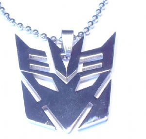 TRANSFORMERS Decepticons Steel Pendant Necklace- Prop Replica